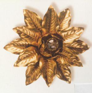 PL.2130/1, Deckenleuchte mit Blattgold-Dekoration