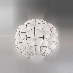 Pouff Ra383-035, Wandlampe aus geblasenem Glas