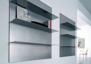 ALL comp.01, Linear Regale für Wohnraum und eine Bibliothek, in der Aluminium-