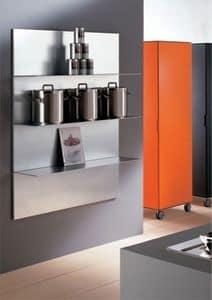 ALL comp.03, Aluminium Regale für die Küche, in einem linearen Stil