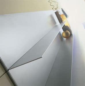 ALL comp.06, Aluminium Regale für Haus, einfache Linien, dünne