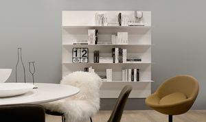 ALL comp.09, Regal für Wohnzimmer, in Aluminium, in einfachen Stil