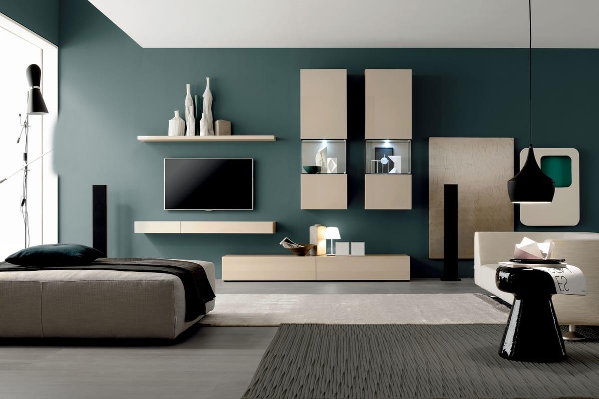 Wandsystem für Wohnzimmer, moderner Stil | IDFdesign