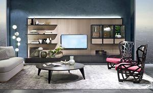 LB48 Desyo, Modulare Wand für Wohnzimmer