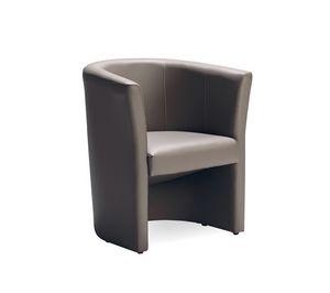 Duke 140, Sessel gepolstert mit Leder