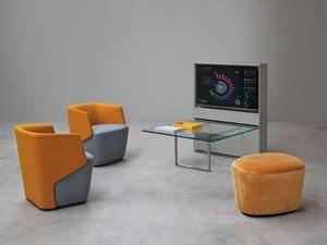 Embrace Hall Talk, Sessel für Wohnzimmer, voll gepolstert