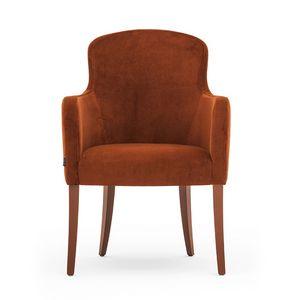 Euforia 00131, Rohrsessel, Massivholz, Sitz und Rücken gepolstert, Stoffbezug