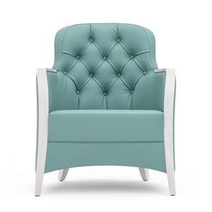 Euforia 00142K, Sessel mit Holzstruktur, mit gesteppten Veredelung