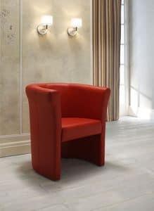 Luna, Gepolsterte Sessel mit Lederbezug, für Wartebereiche, in verschiedenen Farben erhältlich