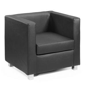 Quadra PL, Sessel aus Leder bedeckten Holz, anpassbare