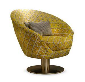 Tonda Drehgelenk, Sessel mit rundem Drehfuß