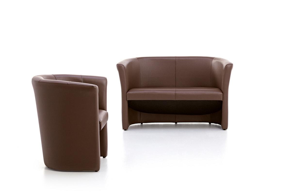 Tube 01, Wanne-Stuhl, gepolstert, für Aufenthalte