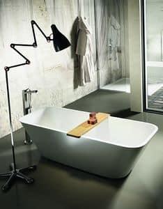 Alfa, Rechteckige Badewanne, mit abgerundeten Ecken