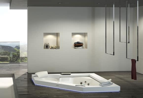 bild von aura corner 160 corian badewanne. Black Bedroom Furniture Sets. Home Design Ideas