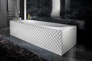 CLASS BATHTUB, Gesteppte Badewanne in Keramik