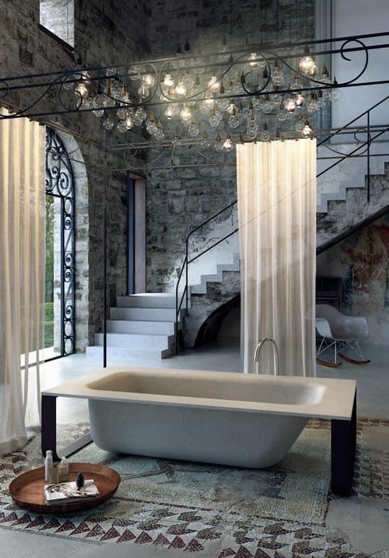 Minimal design badewanne, verschiedenen farben und ausführungen ...
