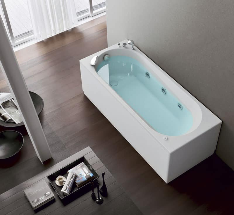 Moderne Badewanne Digitale Funktionen 6 Whirlpooldüsen Idfdesign