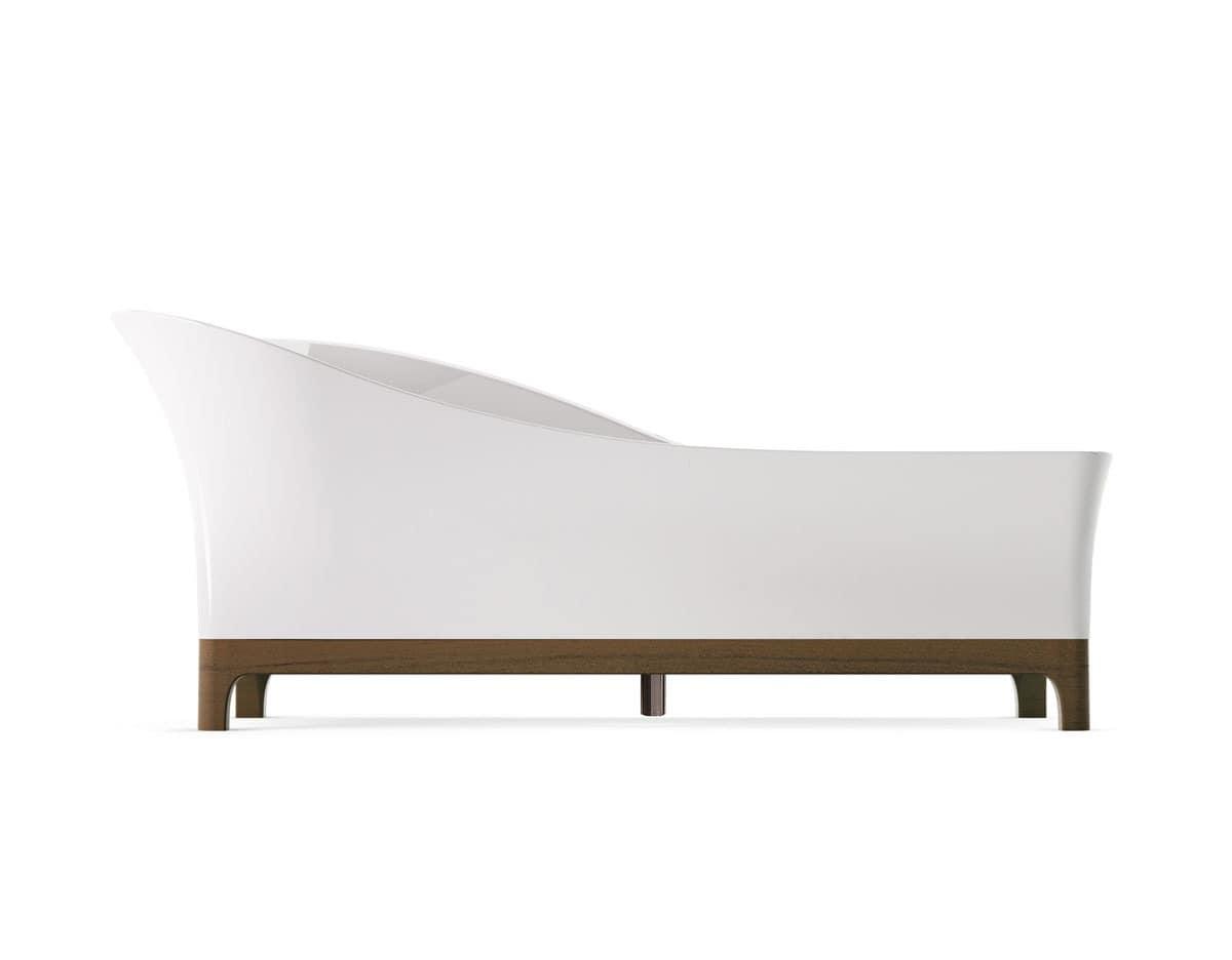 freistehende badewanne f r badezimmer in minera idfdesign. Black Bedroom Furniture Sets. Home Design Ideas