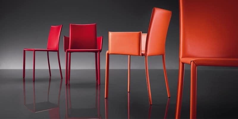 stuhl aus leder metallbasis bezogen f r wartezimmer idfdesign. Black Bedroom Furniture Sets. Home Design Ideas