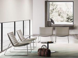 DAMATRÀ, Lounge Sessel mit Kufengestell