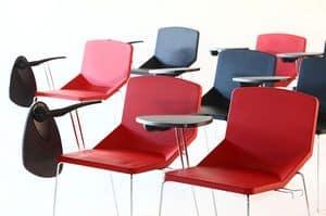 Formula40 sled poly-plus, Gefüllte Stuhl, ideal für Konferenzräume, können mit Schreibplatte ausgestattet werden