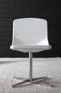 Formula40 x-foot, Eleganter Stuhl mit klarem Design, feuerfeste gepolsterte Sitz und Rückenlehne