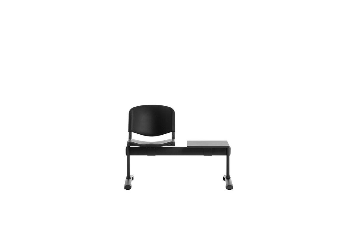 Leo Plastic Bench, Wartebänke mit Sitzen und Rücken aus Polypropylen