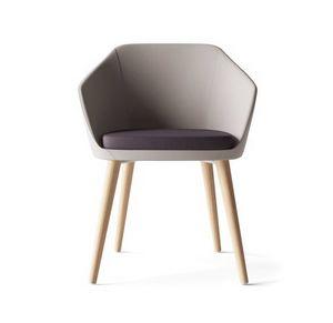MIMÌ, Kleiner Sessel mit Holzbeinen
