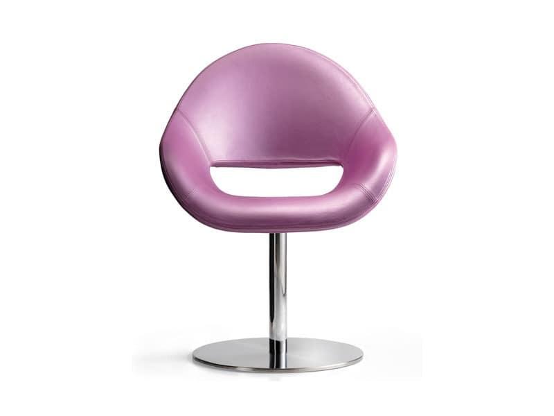 Palm SW, Bequemen, gepolsterten Sessel, sehr dekorativ, für Wartebereiche und Büro
