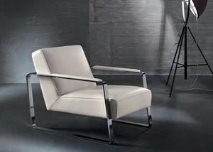 Mika, Sessel für Warte und Lesebereich, Metall Armlehnen