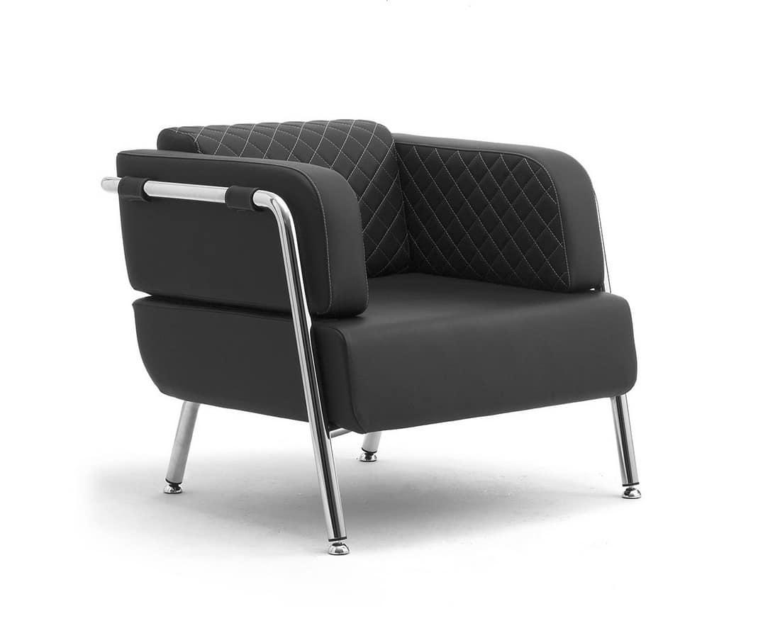 Sofas polstersitze sessel modern quadratisch idfdesign for Sessel wartebereich