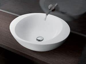 ACCENT BASIN, Rund Aufsatzwaschbecken aus Keramik