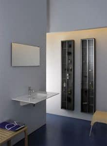 Albeus, Rechteckigen Keramik-Waschbecken, für moderne Bäder