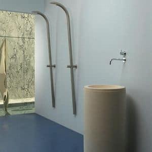 Buoro 1 & Buoro 2, Zylindrische Waschbecken in Portugiesisch Stein
