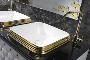 CLASS QUADRO BASIN, Luxus-Waschbecken aus Keramik