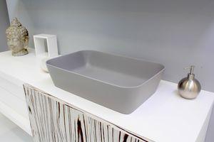 Color rechteckiges Waschbecken, Waschbecken mit abgerundeten Kanten