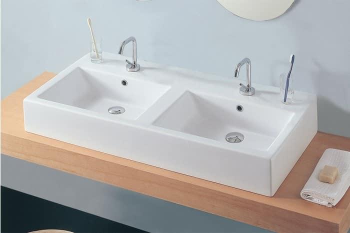 Keramik-Waschbecken mit Doppelwaschbecken | IDFdesign
