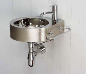 Wing, Händewaschen aus poliertem Stahl, für den Haushalt