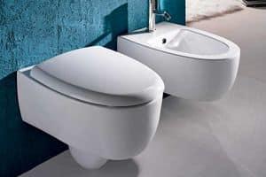 DOT WC BIDET, Kleine Sanitärkeramik, Wandmontage