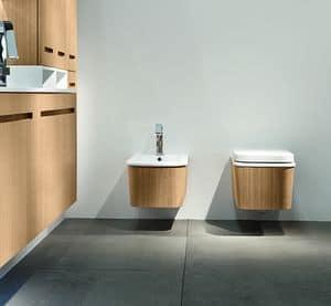 Eos Cono, Keramik-Waschbecken und Keramik-Toilette, anpassbare