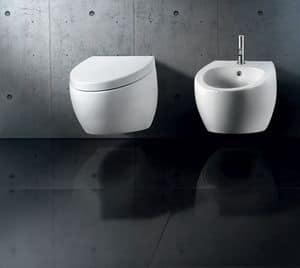 OVAL WALL WC BIDET, Wandhängende Sanitärkeramik, verschiedene Veredelung erhältlich