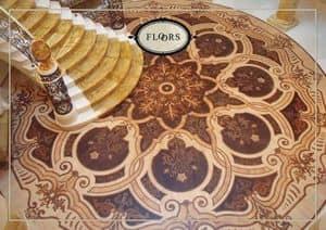 Holzböden, Holzboden mit renommierten Intarsien, ideal für klassischen Stil -Umgebungen