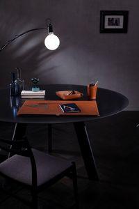 Aristotele 5pz, Schreibtischzubehör aus Leder
