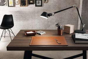 Ascanio 4pz, Schreibtischzubehör Set, aus regeneriertem Leder