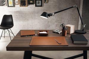 Ascanio 5pz, Leder Schreibtisch Zubehör