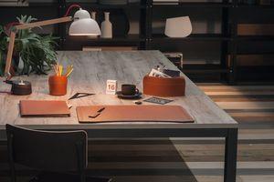 Brando 5pz, Elegante Kollektion aus regeneriertem Leder Schreibtischzubehör