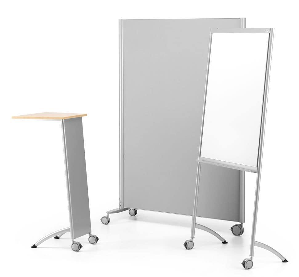 tafel büro übertragung multikom 3003 tafel auf rädern aus lackiertem metall für das büro idfdesign