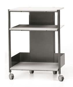 MULTIKOM 3007, Zweckwagen mit Rädern, für moderne Büro