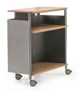 MULTIKOM 3009, Zweckwagen aus Stahl und Sperrholz, für Büros