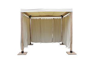 Venezia 849, Holzpavillon einfach und unkompliziert mit Stoffbezug